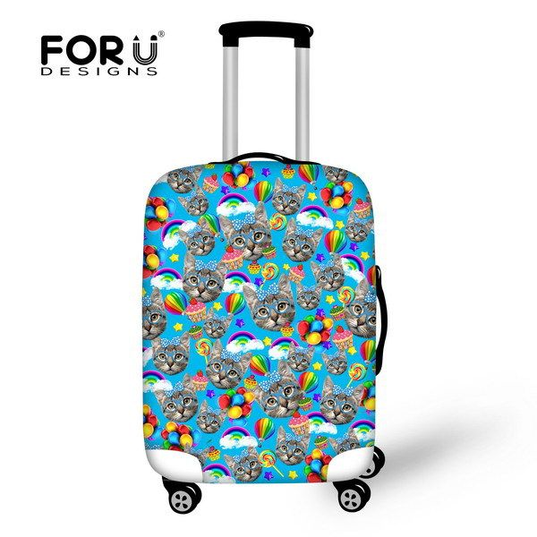 2017 Animal Cute Cat Travel Accessories Travel Luggage Cover Case For 18-30 inch Waterproof Suitcase Cover Protable Trolley Sets