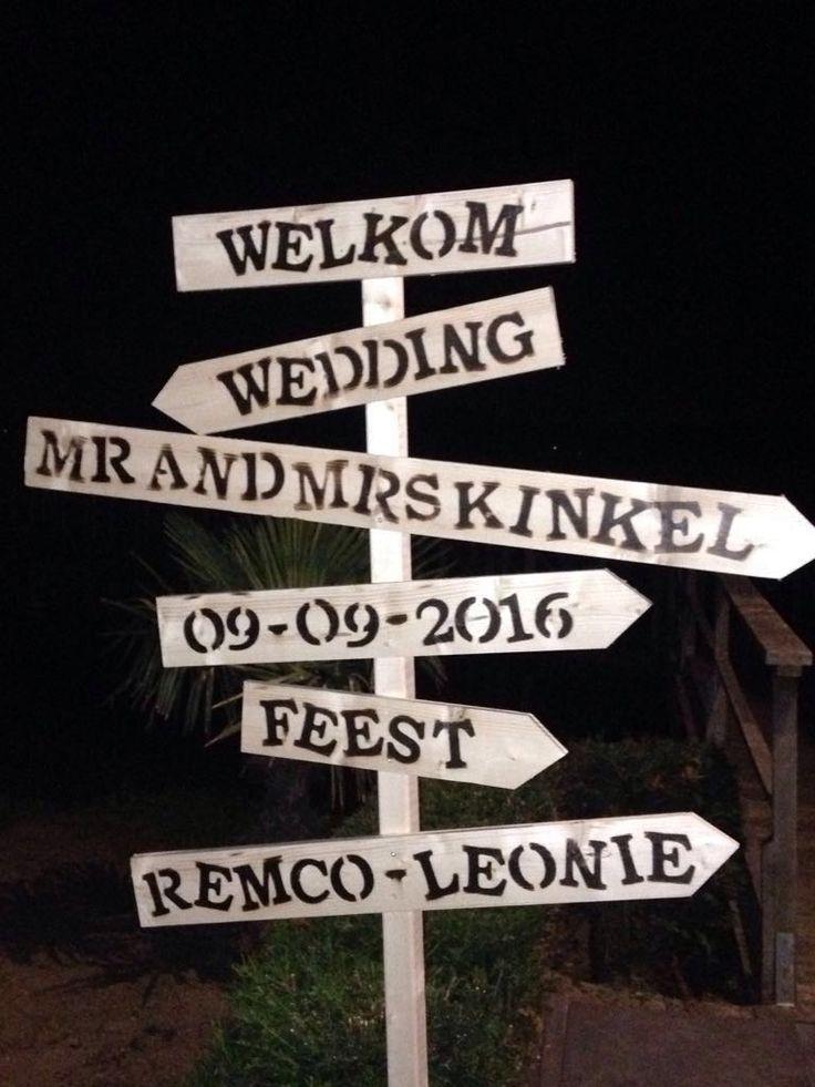Wedding Mr & Mrs Kinkel ♡ Bruiloft ♡ Maak ook je eigen houten bord! ♡ www.LiefsLabel.nl