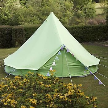 Boutique Camping 4m Apple Green Bell Tent With Zipped In Ground Sheet | Fruugo