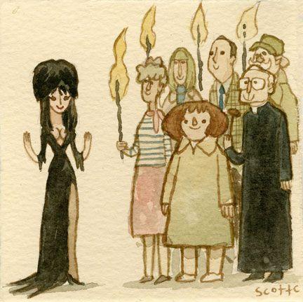 Elvira, Mistress of the Dark by Scott Campbell