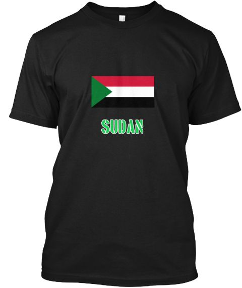Sudan Flag Stencil Green Design Black T-Shirt Front - This is the perfect gift for someone who loves Sudan. Thank you for visiting my page (Related terms: I Heart Sudan,Sudan,Sudanese,Sudan Travel,I Love My Country,Sudan Flag, Sudan Map,Sudan Language, Su #Sudan, #Sudanshirts...)