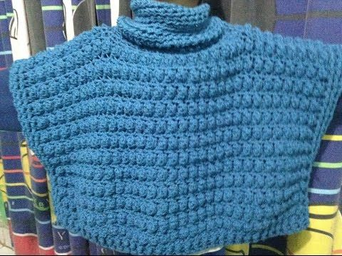 Chaleco tipo Poncho a Crochet/todas las tallas - YouTube