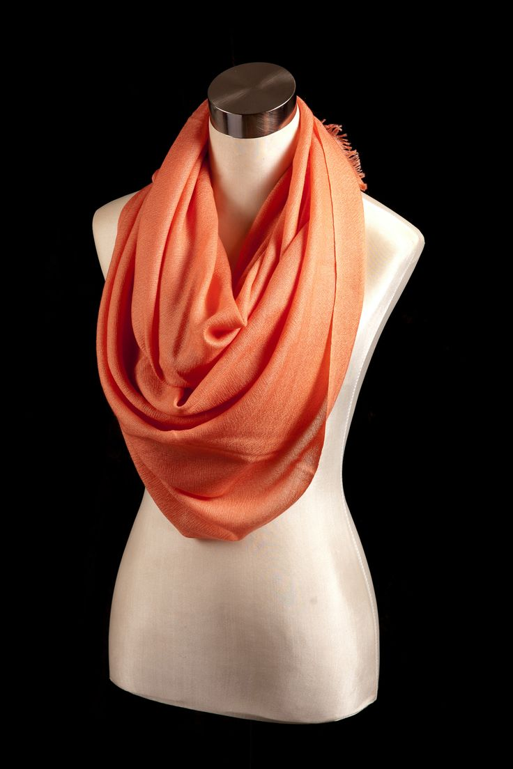 Handwoven Coral pink 100% Karma Cashmere!   For the modern woman with an eclectic fashion sense, this trendy coral pink pashmina is a sleek statement of elegant luxury made from only the finest cashmere and silk.