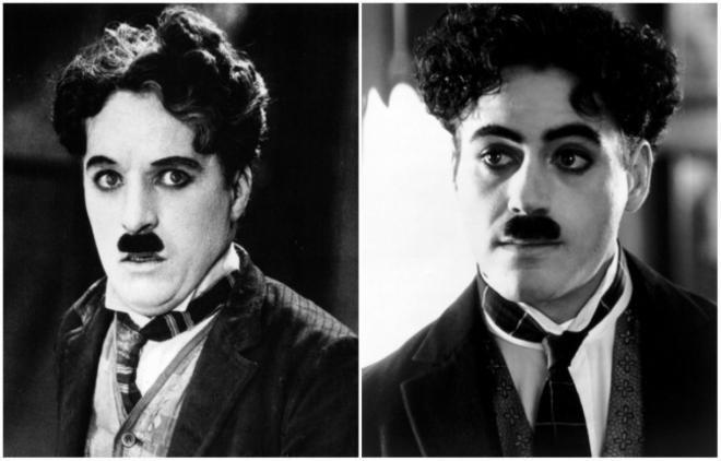 <p>Charles Chaplin από τον ηθοποιό Robert Downey Jr.<br /> «Chaplin» 1992</p>