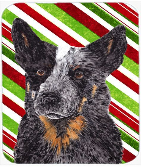 Australian Cattle Dog Candy Cane Holiday Christmas Mouse Pad, Hot Pad or Trivet