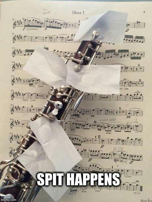 Spit happens #oboe