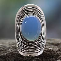 Jaipur Skies from @NOVICA, They help #artisans succeed worldwide. Beautiful chalcedony cabochon!
