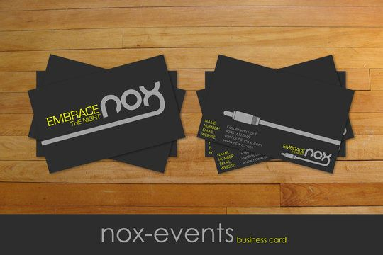 Business card wrap around graphic