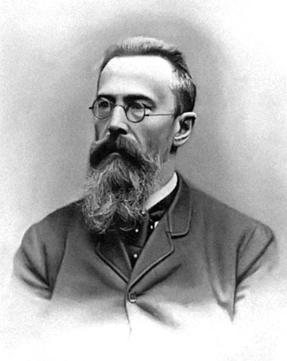 Nikolai Rimsky-Korsakov (1844 - 1908) - Of all the great Russian nationalist composers of the latter part of the 19th century, Rimsky-Korsakoff stands second only to Mili Balakirev in his practical influence on the music created and preserved in that period. In so far as his own music is concerned, while some pieces have remained immensely popular, the bulk of his achievement is rarely heard today. Many people see him as the logical link between Modest Mussorgsky and Igor Stravinsky.