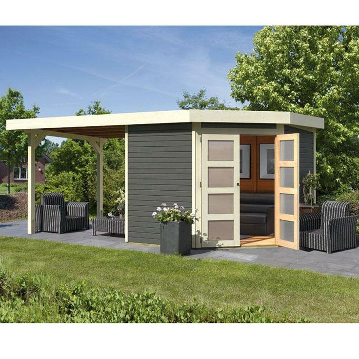Ber ideen zu flachdach gartenhaus auf pinterest 5 eck gartenhaus flachdach und sauna - Abri de jardin toit plat tek ...