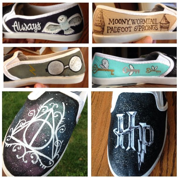Harry Potter shoes Intredibledesign@gmail.com