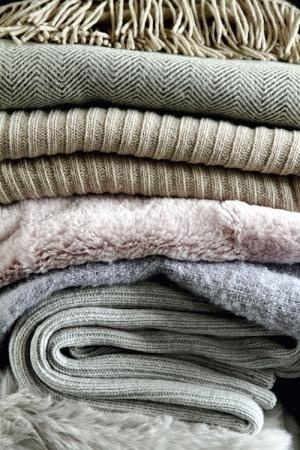 Layered throws, love this look