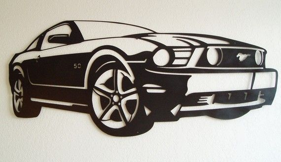 Ford Mustang mur métal Art par SunsetMetalworks sur Etsy