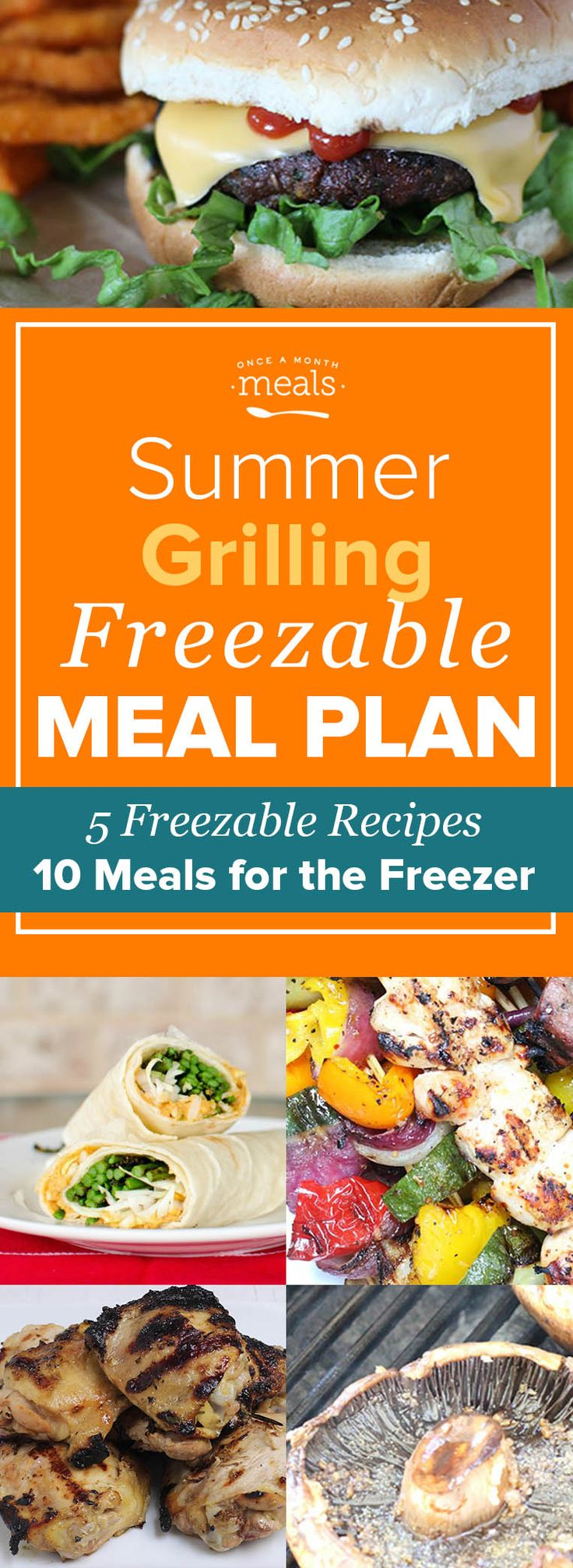 Enjoy a taste of summer and save time with our summer grilling menu of easy freezer meals! From burgers to kebabs stock up on cookout favorites in a flash. via @onceamonthmeals