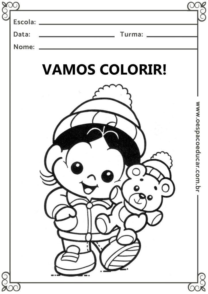 Educacao Infantil Desenhos Com O Tema Inverno Para Colorir