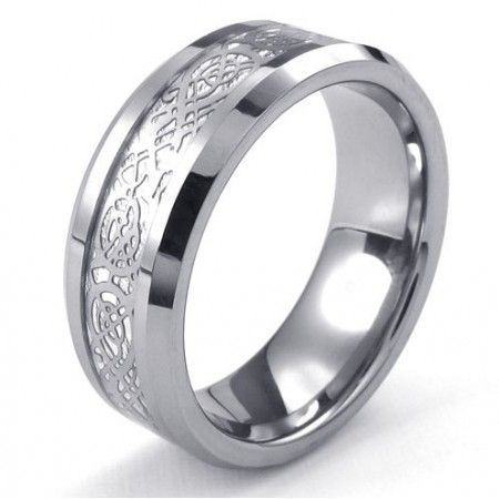 Beautiful Design Color Brilliancy Stable Quality Tungsten Ring