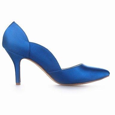 bombas de las mujeres zapatos de tacón de aguja del talón de satén zapatos de boda más colores disponibles - EUR € 43.63