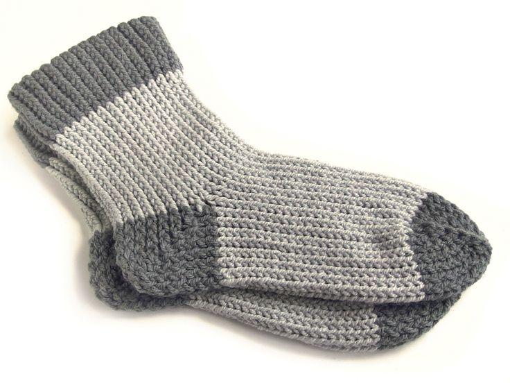 Ponožky pletené na oválném strojku