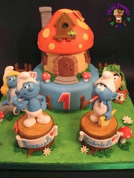 Gâteau de stroumf