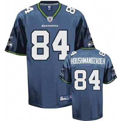 TJ Houshmandzadeh Navy Blue Jersey $19.99  This jersey belongs to TJ Houshmandzadeh, Seattle Seahawks #84  Color: navy blue, Size: M, L, XL, XXL, XXXL  The jersey is made of heavy fabric with nylon diamond weave mesh