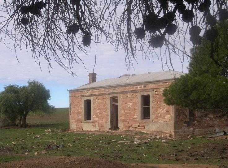 Australian settler's house. Simple rectangular footprint.