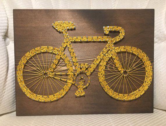 CUSTOM Bicycle String Art Sign Bike Art by KiwiStrings on Etsy