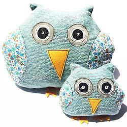 Aqua Mintchi Owl Floral - Awake LRG