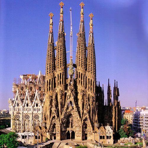 Sagrada Familia, By Antoni Gaud. This Church Is Scheduled