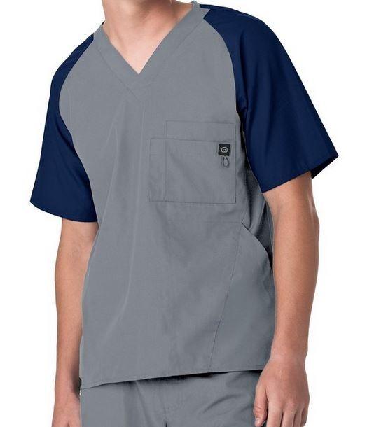 WonderWink Men's Raglan Block Top | WonderWink Scrub Shop #scrubs #uniforms #nurses #nursing #men #mens