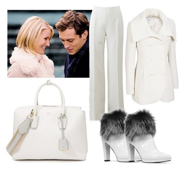 """""""The Holiday inspired outfit (Cameron Diaz)"""" by jenny-canton on Polyvore featuring Jessica Simpson, Michael Kors, Stuart Weitzman and MCM"""