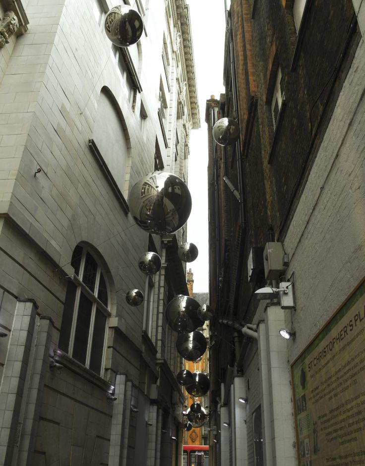 An alley next to Selfridges in London
