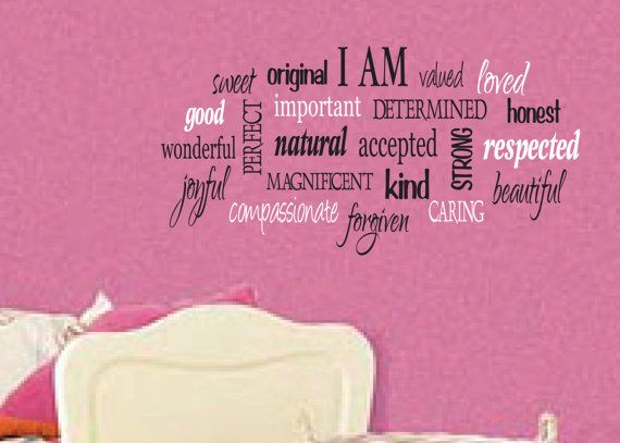 I am positive word collage for girls Teen girl by WildEyesSigns, $45.00
