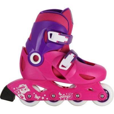 Deporte Roller Patines, Skates, Patinetes - Patines en línea Fitness para niños Roller PLAY 3 Rosa Fucsia OXELO - Patines Línea