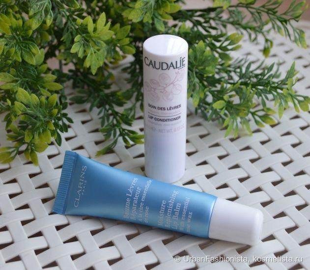 Уход за губами: химия или органика? Clarins Moisture Replenishing Lip Balm vs Caudalie Lip Conditioner