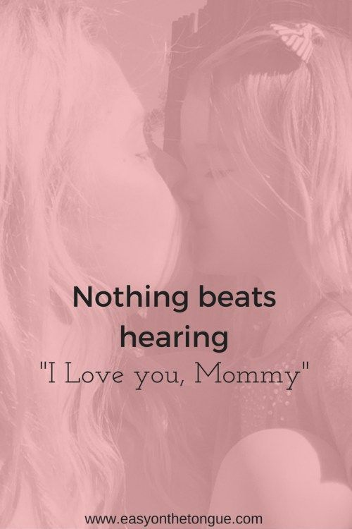 """Inspirational Quote about Family Love – Special Moments in Life.  Nothing beats hearing """"I love you, Mommy!"""""""