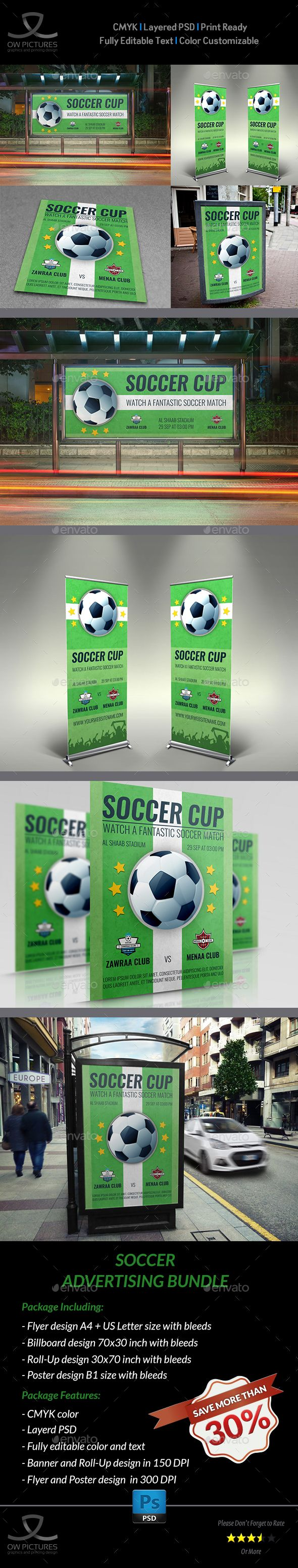 Soccer Advertising Bundle by OWPictures Advertising Package Description : Soccer...