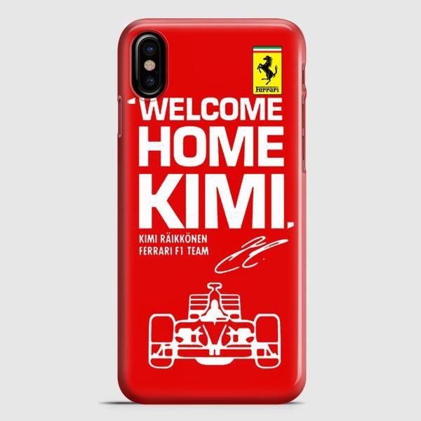 Kimi Raikkonen Welcome Home Ferrari F1 Team iPhone X Case