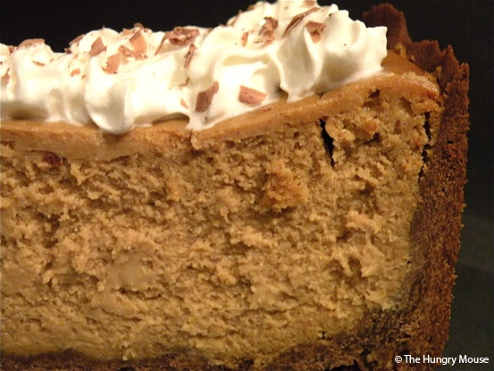 Brown Sugar Pumpkin Cheesecake with Chocolate Shortbread Crust
