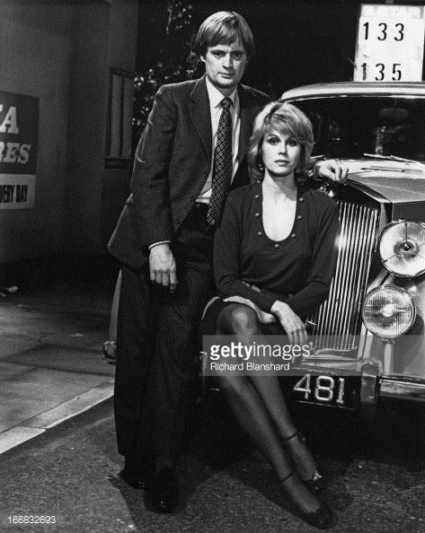Scottish actor David McCallum and English actress Joanna Lumley as they appear in the British television science-fiction series 'Sapphire & Steel', circa 1980.