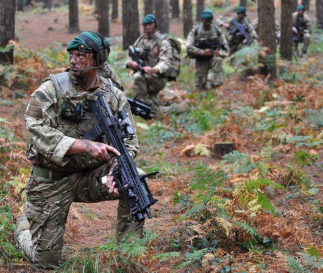 Royal Marine Commandos on Exercise in British Woodland   Flickr - 사진 공유!