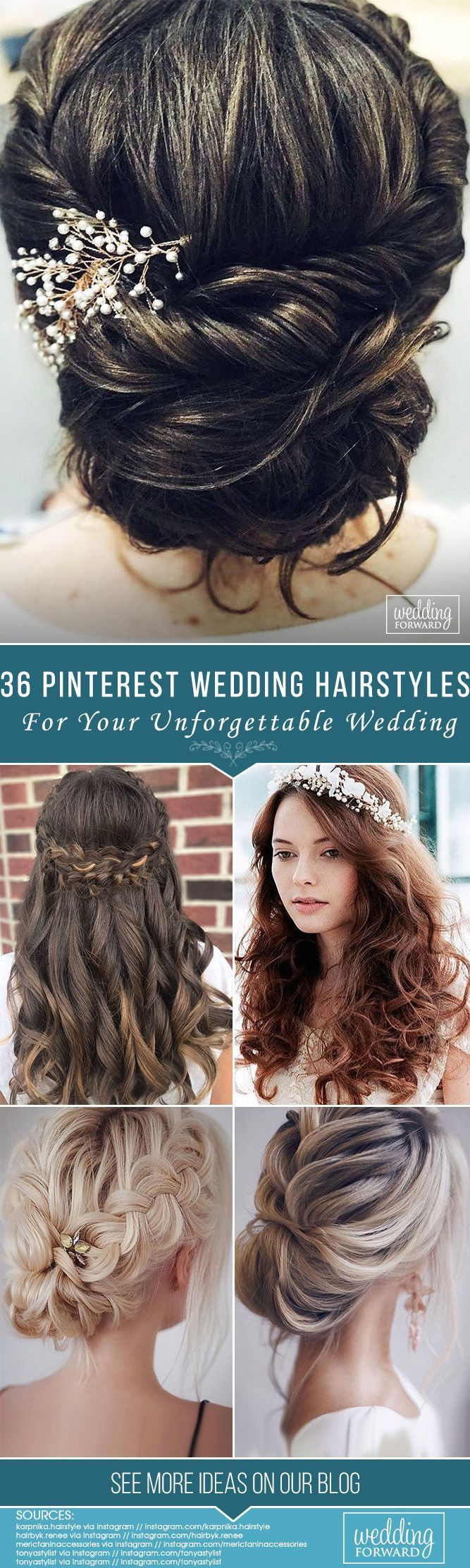 36 Pinterest wedding hairstyles for your unforgettable wedding ❤ If you are in ... #wedding #wedding hairstyles #pinterest #unforgettable