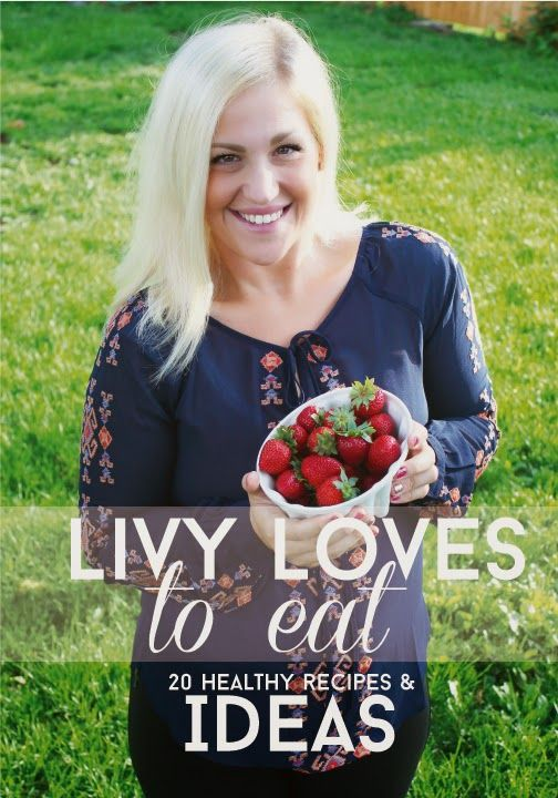 This cute girl lost over 100 lbs and she is sharing her healthy recipes and telling her story of how she did it on her blog livylove.com