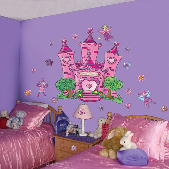 Fairy mural faerie wall decals by createamural on etsy for Fairy castle mural