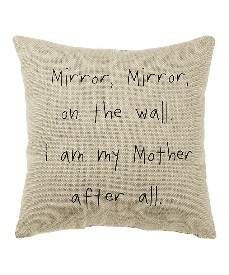 White 'Mirror Mirror' Pillow   Daily deals for moms, babies and kids