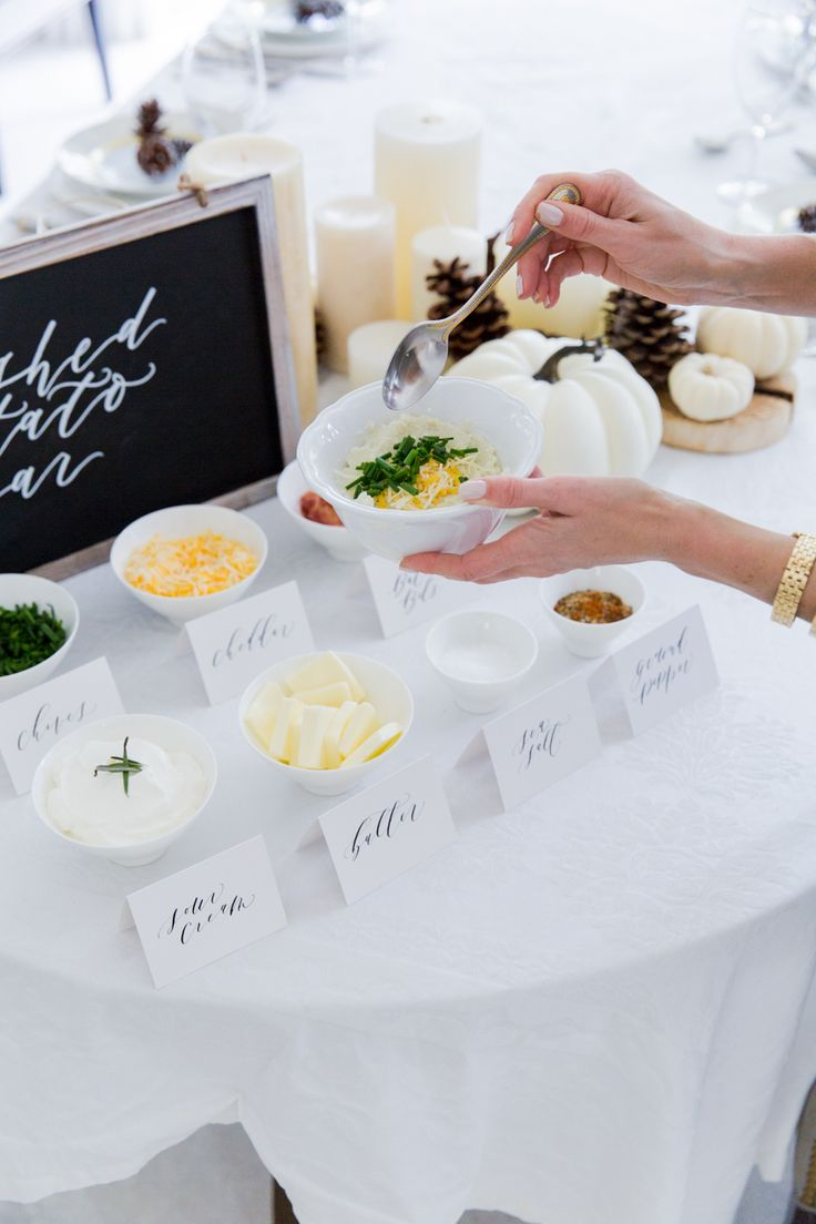 Mashed Potato & Toppings Bar: The Thing Your Dinner Party Is Missing #RueNow