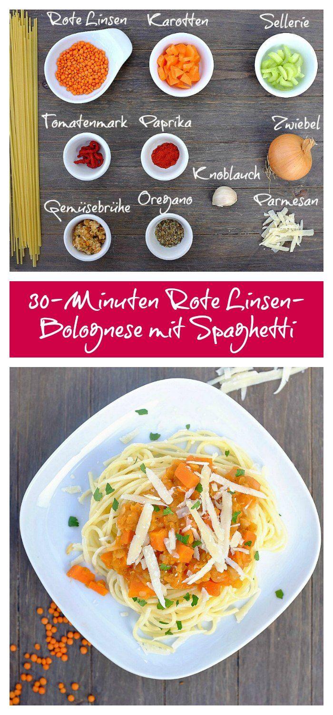 vegetarische Bolognese   Rote Linsen Bolognese   vegane Pasta-Sauce   Familienrezept