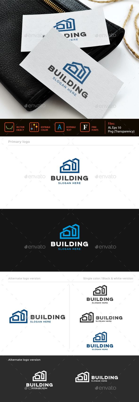 Building logo template - Buildings Logo Templates