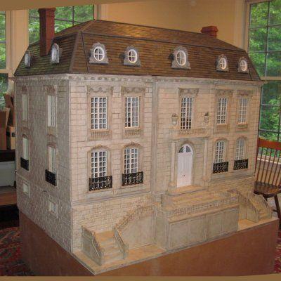 Exterior finish dollhouses artistic unique pinterest for Unique doll houses