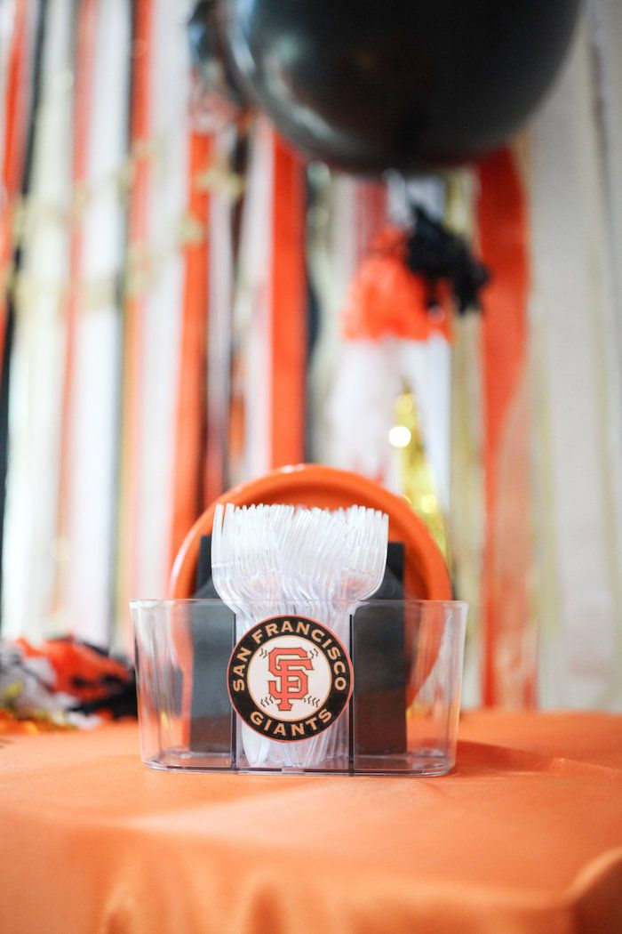 Partyware From A San Francisco Giants Baseball Birthday Party On Karas Ideas