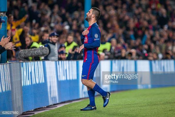 News Photo : Arda Turan celebrates scoring the goal during the...